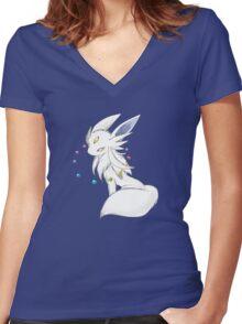 Mega Evolution Eevee Women's Fitted V-Neck T-Shirt