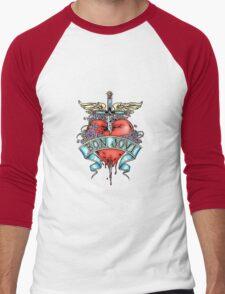 Bon Jovi Heart Dagger Men's Baseball ¾ T-Shirt