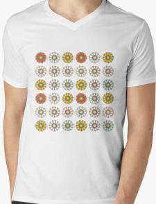 Trendy Colorful Floral Design  Mens V-Neck T-Shirt