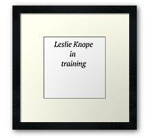 Leslie Knope In Training Framed Print
