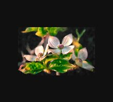 Dogwood Blossoms On A Branch Womens Fitted T-Shirt