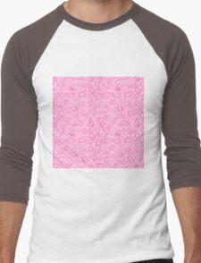 Abstract Hearts and Flowers Print Men's Baseball ¾ T-Shirt