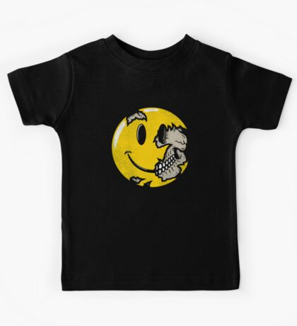 Smiley face skull Kids Tee