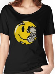 Smiley face skull Women's Relaxed Fit T-Shirt