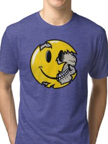 Smiley face skull Tri-blend T-Shirt
