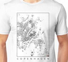 Copenhagen Map Schwarzplan Only Buildings Unisex T-Shirt