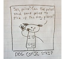 DOG COMIC STRIP - Lewis Photographic Print