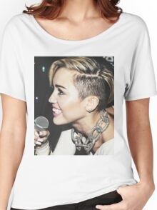 Miley Cyrus - 2013 Candid Women's Relaxed Fit T-Shirt