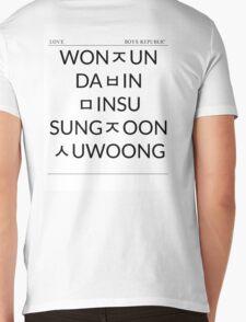 Boys Republic Hangeul List Mens V-Neck T-Shirt