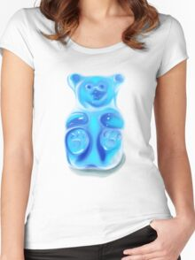 Barry; the Very Berry Flavored Bear Women's Fitted Scoop T-Shirt