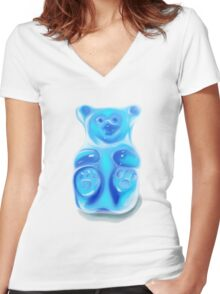 Barry; the Very Berry Flavored Bear Women's Fitted V-Neck T-Shirt