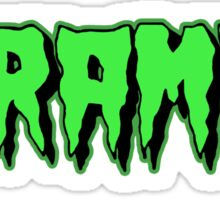 The Cramps GREEN FUZ Sticker