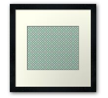 Graphic Flower Pattern Framed Print