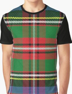Scottish tartan, red and green, blue and yellow Graphic T-Shirt