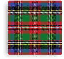 Scottish tartan, red and green, blue and yellow Canvas Print