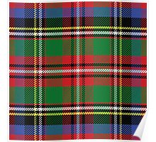 Scottish tartan, red and green, blue and yellow Poster