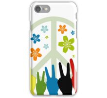 Peace Symbol Cool Illustration iPhone Case/Skin