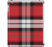 Scottish tartan, black, white, red iPad Case/Skin