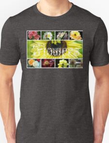 Fancy Flowers Collage Unisex T-Shirt