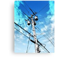 Telephone Pole Canvas Print
