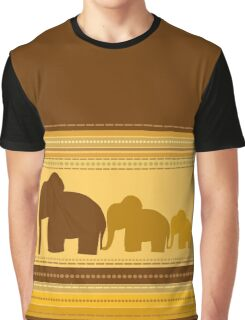 Elephants Stylish Vector Illustration Graphic T-Shirt