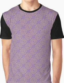 Purple & Yellow Graphic Floral Pattern  Graphic T-Shirt