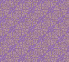 Purple & Yellow Graphic Floral Pattern  Sticker