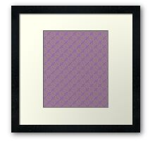 Purple & Yellow Graphic Floral Pattern  Framed Print