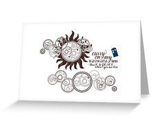 Carry on my Wayward Doctor Greeting Card