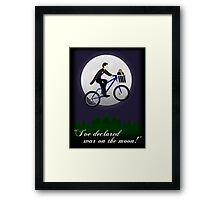 Doctor Phone Home (w/ text) Framed Print