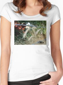 bobwire fence Women's Fitted Scoop T-Shirt