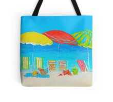 Beach painting - Summer Days Are Here Again Tote Bag