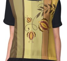 Retro Floral Design Vector Illustration Chiffon Top
