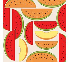 Watermelons Colorful Vector Illustration Photographic Print