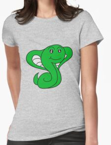 cobra snake sweet cute little comic cartoon Womens Fitted T-Shirt