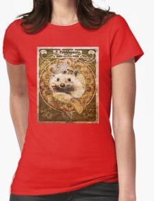 Art Nouveau Hedgehog Womens Fitted T-Shirt