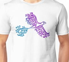 Bright Squiggle Bird Unisex T-Shirt