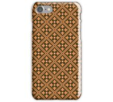 Brown Abstract Floral Graphic Pattern  iPhone Case/Skin