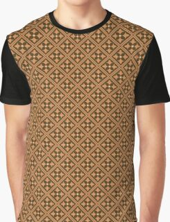 Brown Abstract Floral Graphic Pattern  Graphic T-Shirt