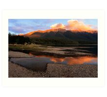 Lake Rotoiti at Sunset Art Print