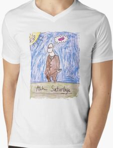 Ahhhh..Saturday! Mens V-Neck T-Shirt