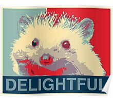Delightful Hedgehog Poster
