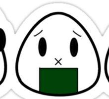 See No Evil Onigiri Sticker