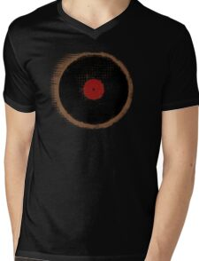 Vinyl Record Vintage Design Mens V-Neck T-Shirt
