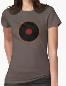Grunge Vinyl Record Vintage T-Shirt Womens Fitted T-Shirt