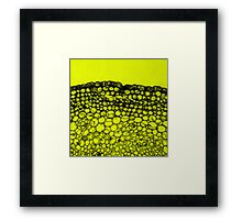 Crowded - Abstract In Black And Yellow Framed Print