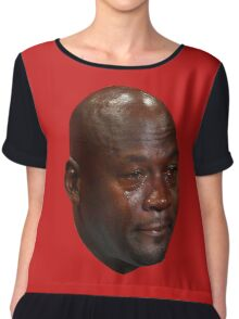 CRYING JORDAN Chiffon Top