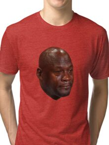 CRYING JORDAN Tri-blend T-Shirt