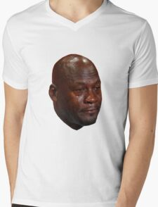 CRYING JORDAN Mens V-Neck T-Shirt