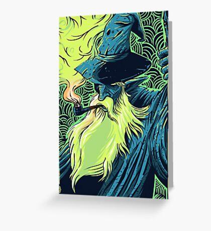 Puffbeard the Wizard Greeting Card